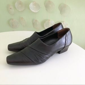 Paul Green Leather Loafers Heels